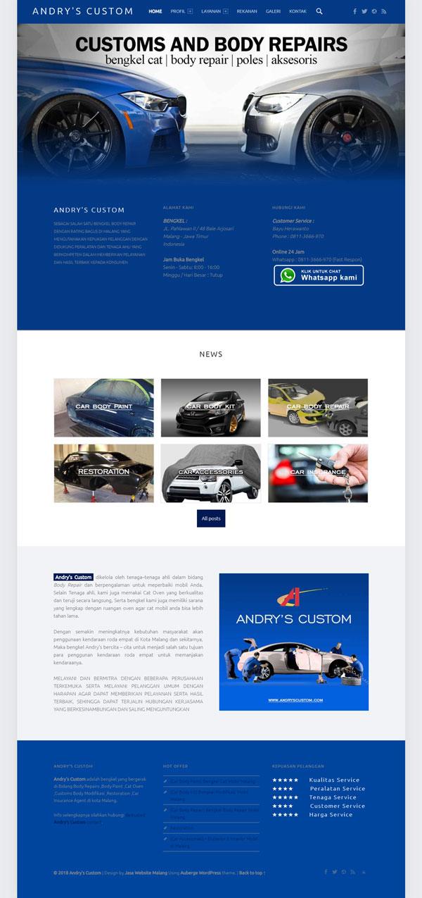 Jasa Pembuatan Website Bengkel