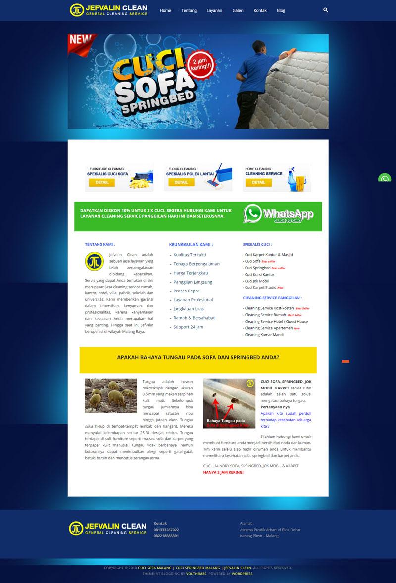 Jasa Pembuatan Website Cleaning Service