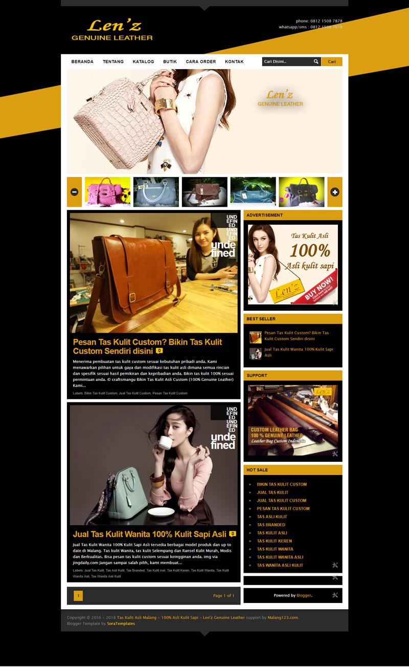 Jasa Pembuatan Website Lenzleather